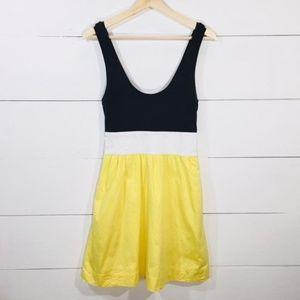 EXPRESS 2 Colorblock Fit & Flare Dress EUC